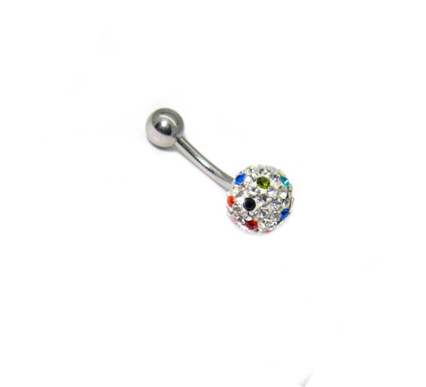 piercing do pupíku s kamínky Swarovski variace barev
