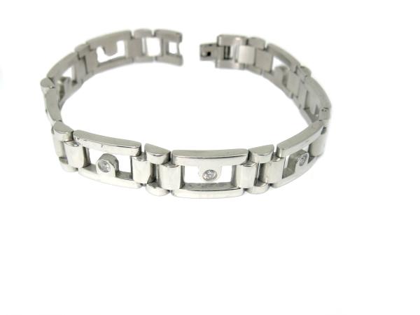Náramek chirurgická ocel 316/L, chirurgická ocel, levné ocelové šperky