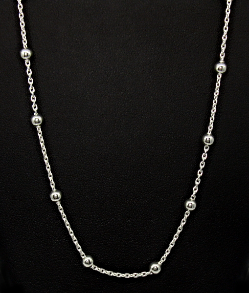 stříbrné řetízky 42 cm ankr s kuličkama