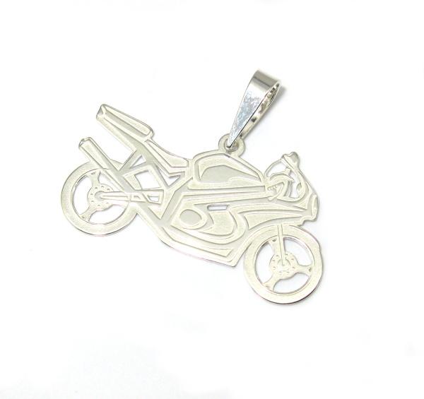 Stříbrný přívesek motorka 925/1000