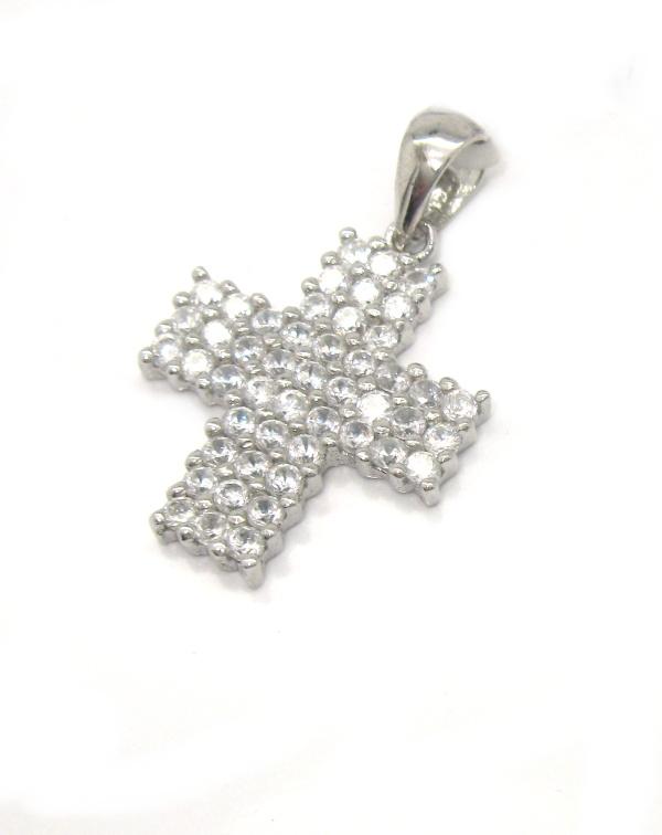 Stříbrný přívěsek Swarovski komponent křížek