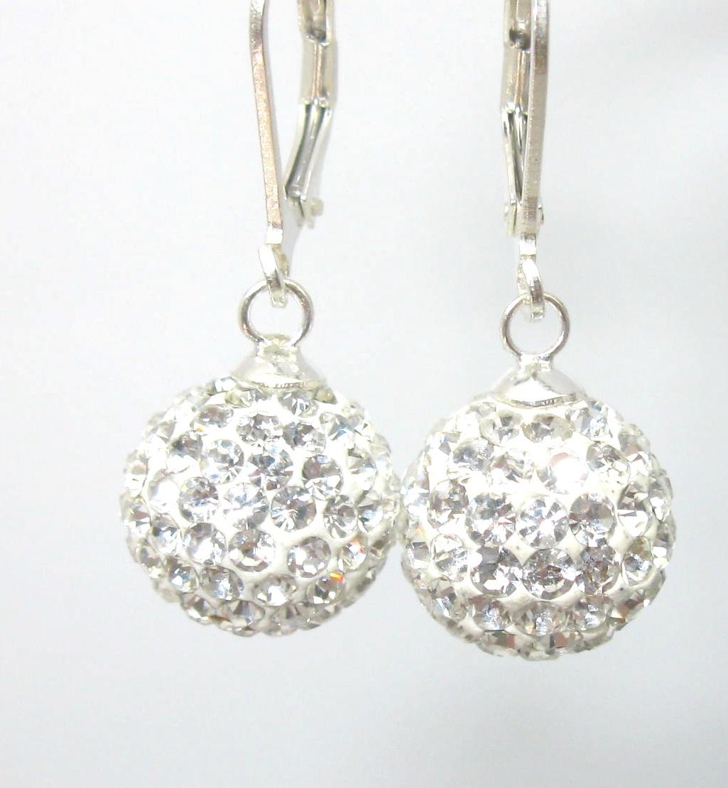 náušnice stříbrné s krystaly swarovski