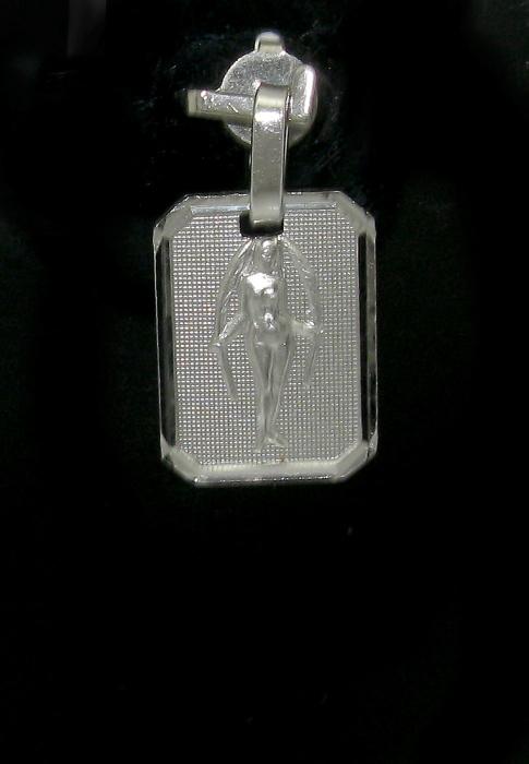 Stříbrný přívěsek měsíční znamení panna tvar obdelník