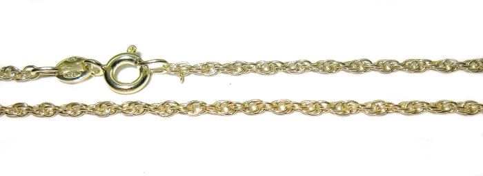 stříbrný řetízek pozlacený wallis 50 cm