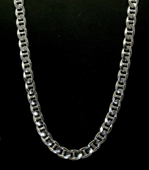 stříbrný řetízek žiletky 45 cm, sleva, výprodej