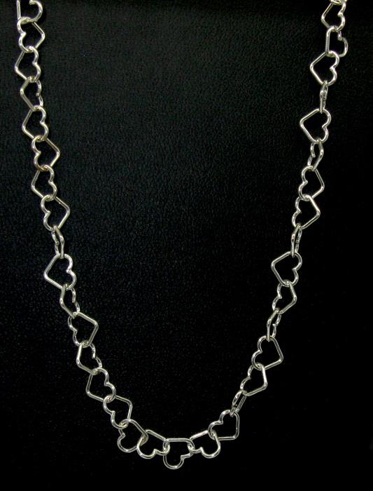 stříbrný řetízek srdíčka 42 cm, super cena, sleva, akce
