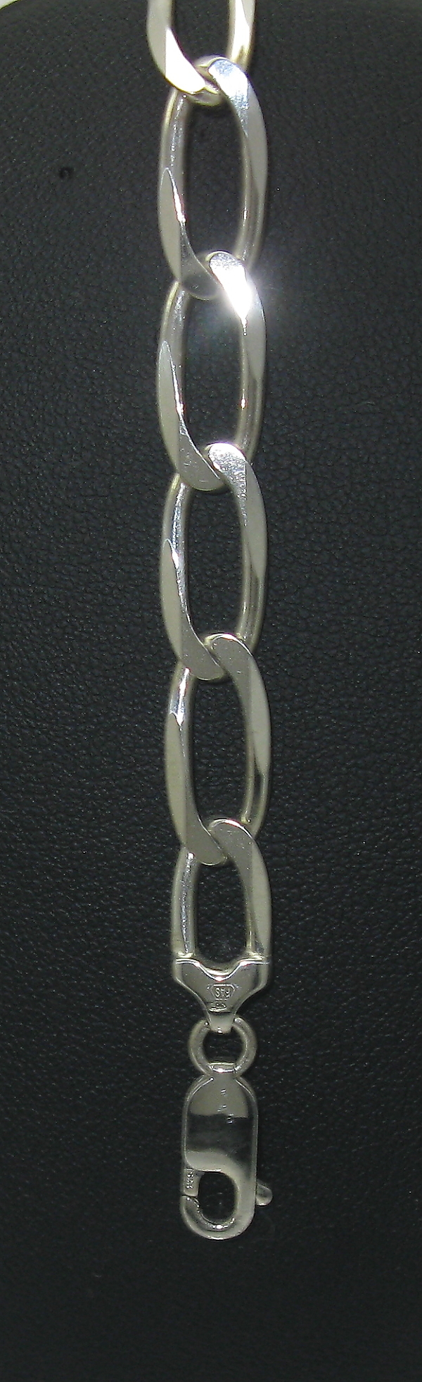 stříbrný náramek figaro 1+1 masivní 21 cm