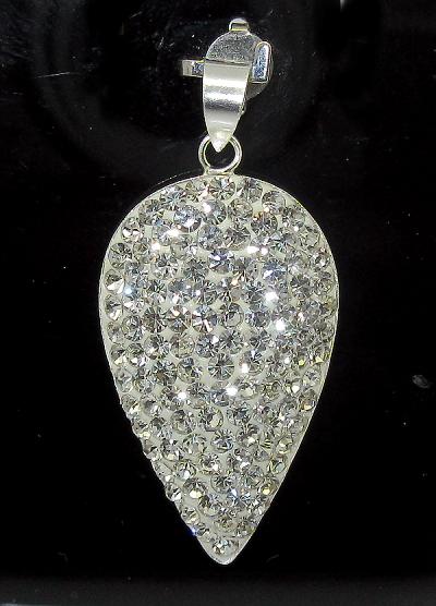 stříbrný přívěsek s kamínky Swarovski