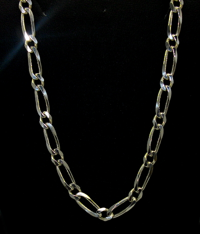 Stříbrný řetízek 925/1000 vzor figaro 1+1 masivní délka 55 cm
