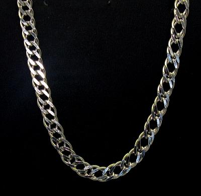 Stříbrný řetízek 925/1000 rombo masivní síla 6 délka 55 cm