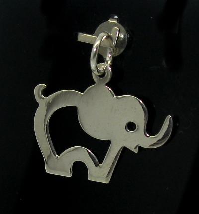 Stříbrný přívěsek slon obrys oboustranný lesk
