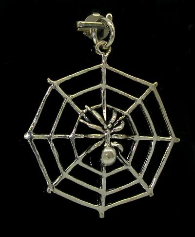 Stříbrný přívěsek 925/1000 vzor pavučina s pavoukem