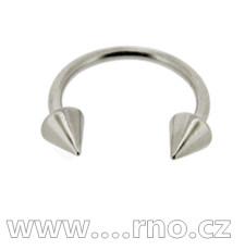 piercing do ucha, rtu - podkova barva ocelová