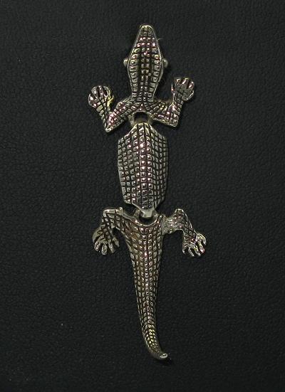 Stříbrný přívěsek ještěrka hýbající končetinami
