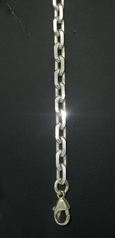 Stříbrný řetízek na ruku vzor ankr masivní 18,5 cm
