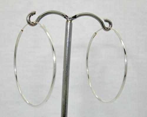 náušnice stříbrné kruhy