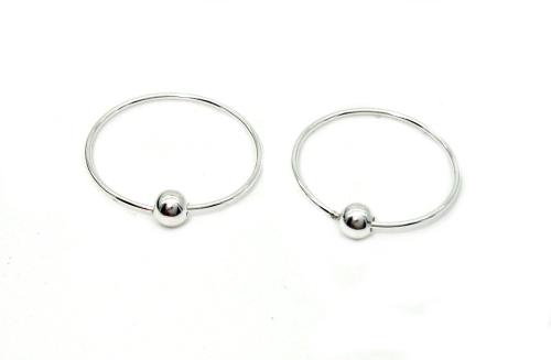 Stříbrné naušnice, kroužky 925/1000