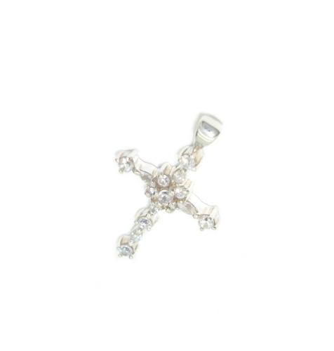 Stříbrné přívěsky s kamínky zirkon tvar kříž