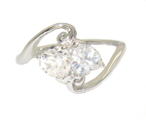 Stříbrný prsten se zirkonem velikost 53 úprava rhodium