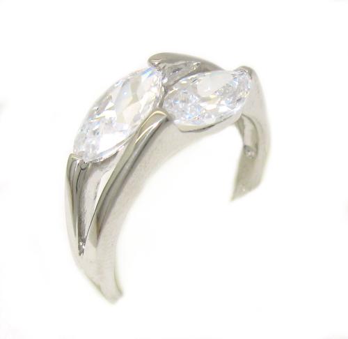Stříbrné prsteny, stříbrné prsteny s kamínky zirkon