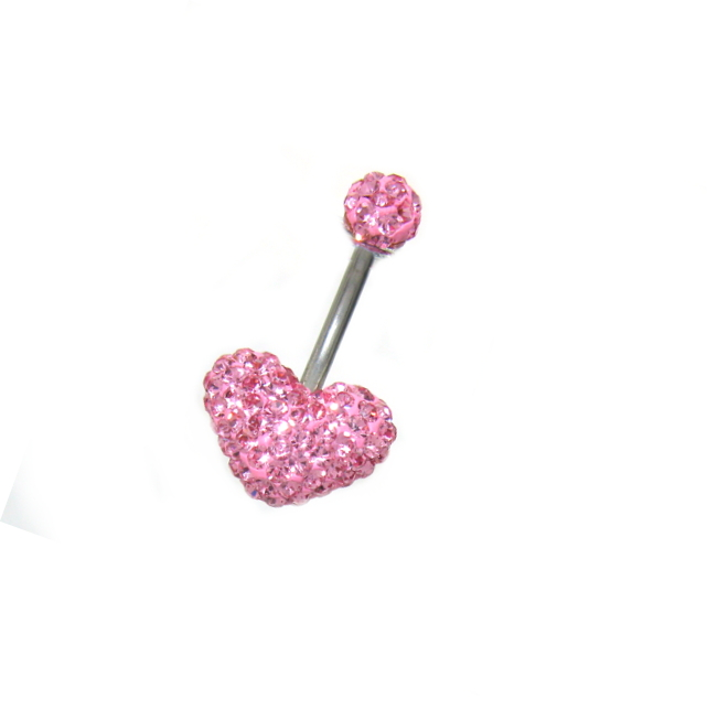 piercing do pupíku, kamínky Swarovski