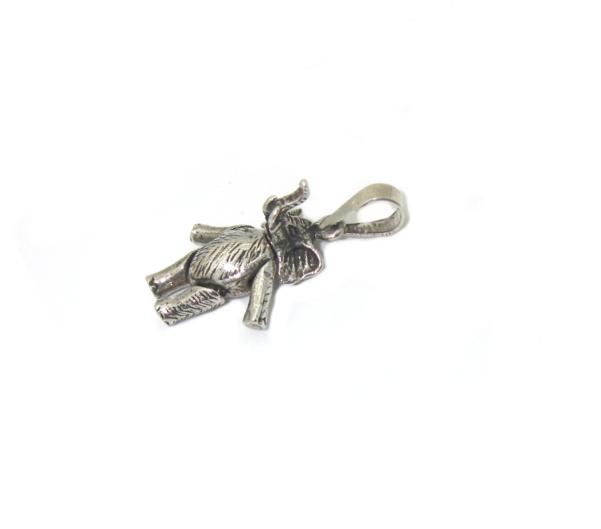 Stříbrný přívěsek 925/1000 vzor slon hýbající tělo,nožky všemi směry
