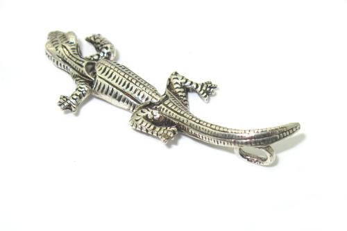 Stříbrný přívěsek 925/1000 vzor ještěrka celková délka 45 mm