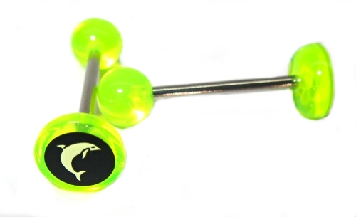 body piercing chirurgická ocel, Piercing do jazyka UV
