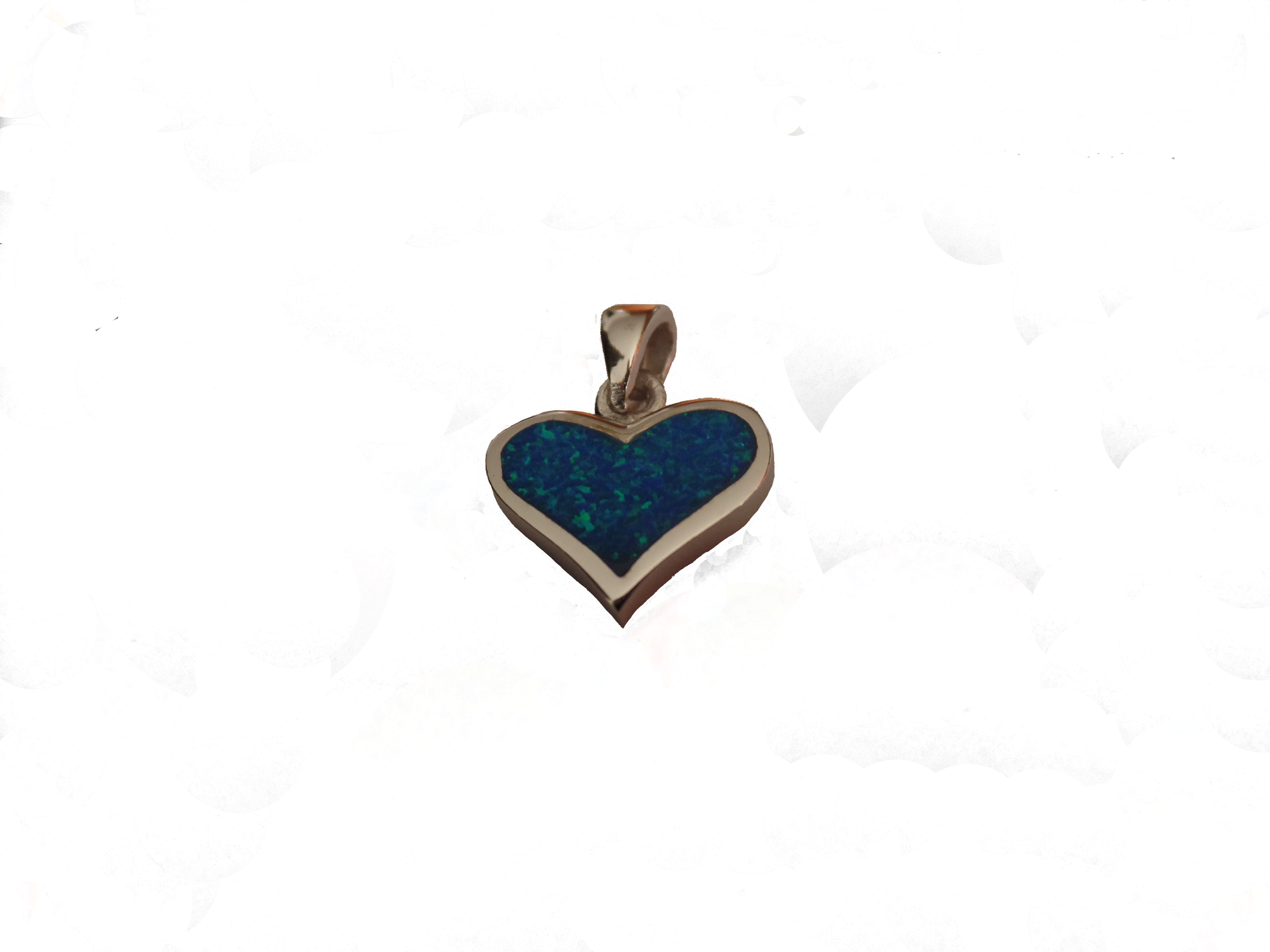 Stříbrné přívěšek srdce opál