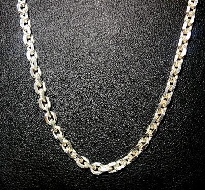 Stříbrný řetízek 925/1000 vzor ankr kulatý masivní délka 55 cm
