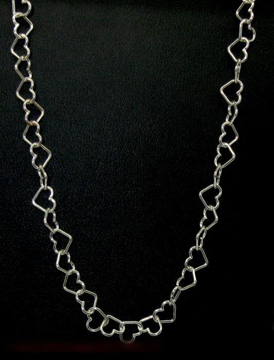 Stříbrný řetízek srdíčka 45 cm