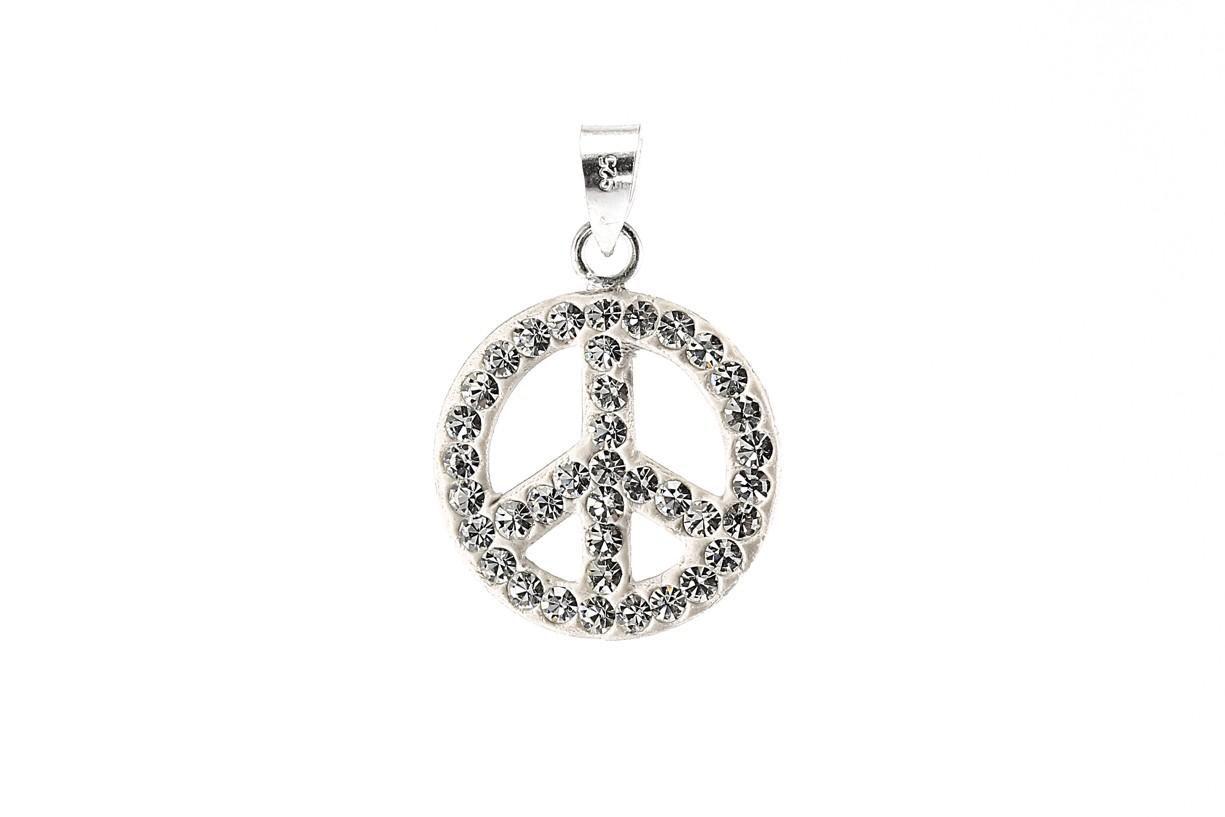 Stříbrný přívěšek znak Hippies 925/1000
